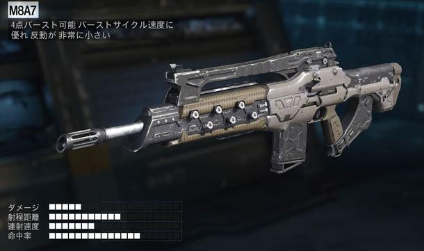 【COD:BO3】M8A7 性能とおすすめのアタッチメントについて!【AR】